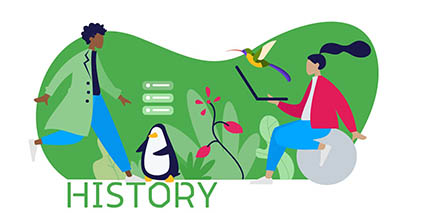 SEO interview questions - history header image