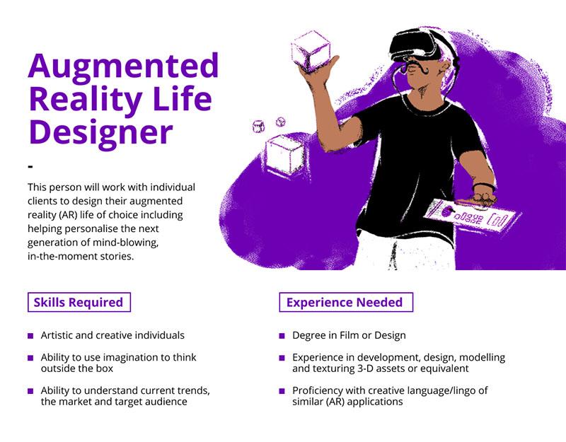 Augmented Reality Life Designer job description
