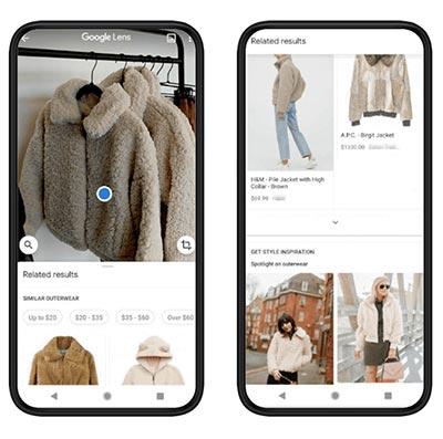 Google Lens shopping preview