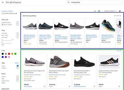 Google Shopping Desktop Experience