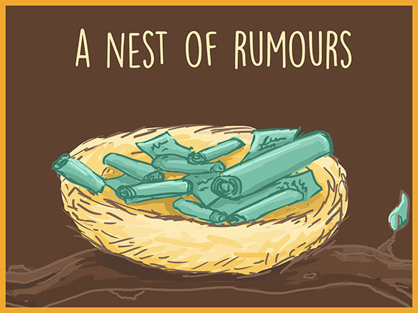 a nest of rumours illustration