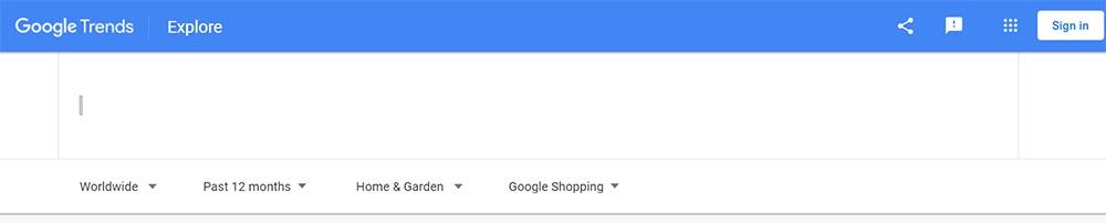 Google trends expore tool