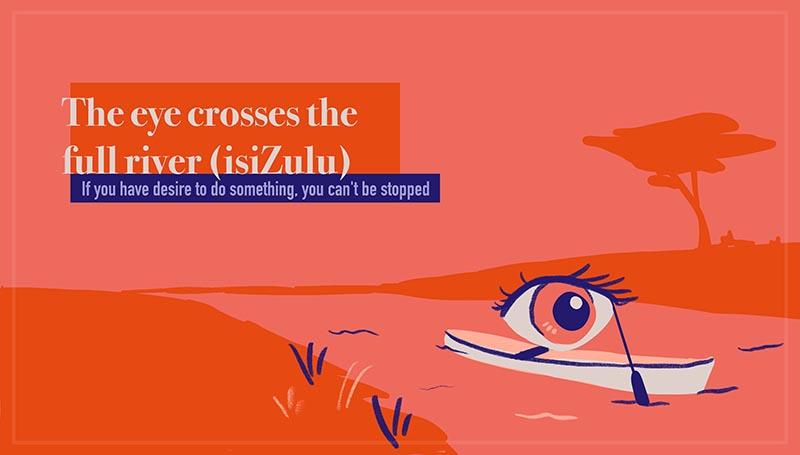 The eye crosses the full river