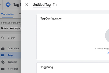 Create a new tag in Google Tag Manager screenshot