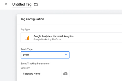 Configure your tag in Google Tag Manager screenshot