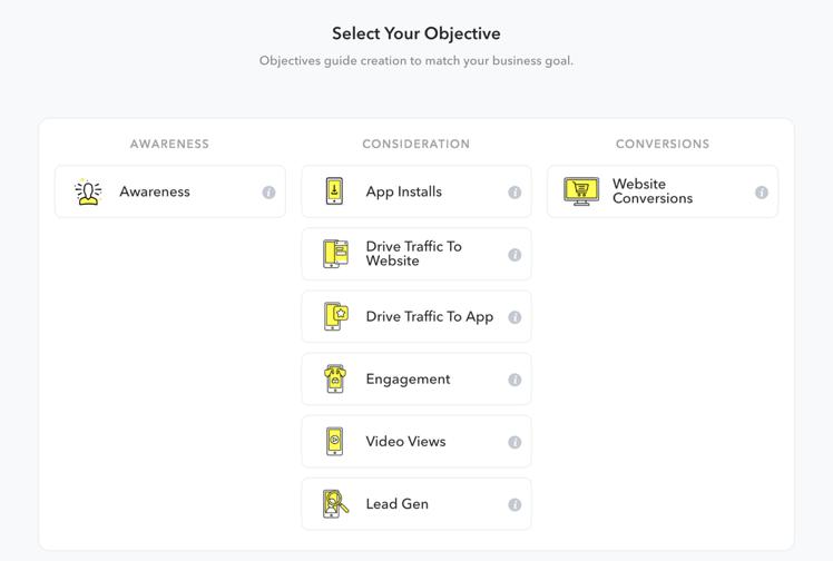 Snapchat Objective Setting